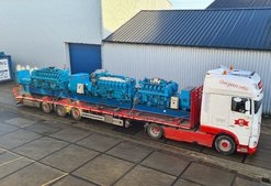 Used Mitsubishi generator sets - a full truckload!