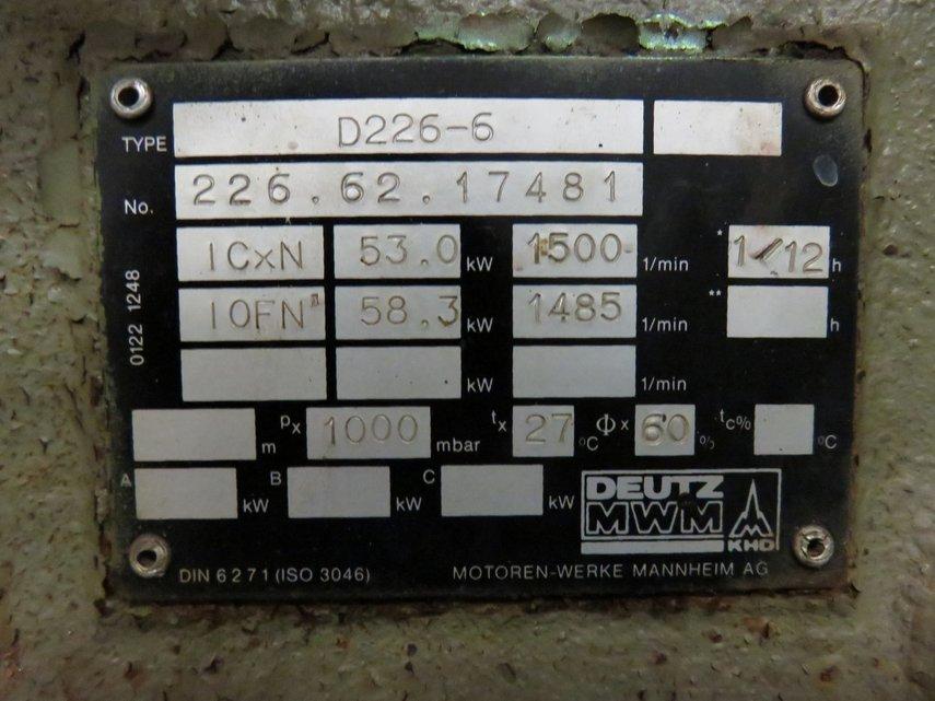 mwm d 226-6 generatorset