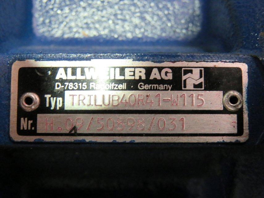 Diesel Engine Spare Parts Manufacturers Companies In Philippines Mail: ALLWEILER PRE LUBRICATION PUMP (TRILUB 40 R41