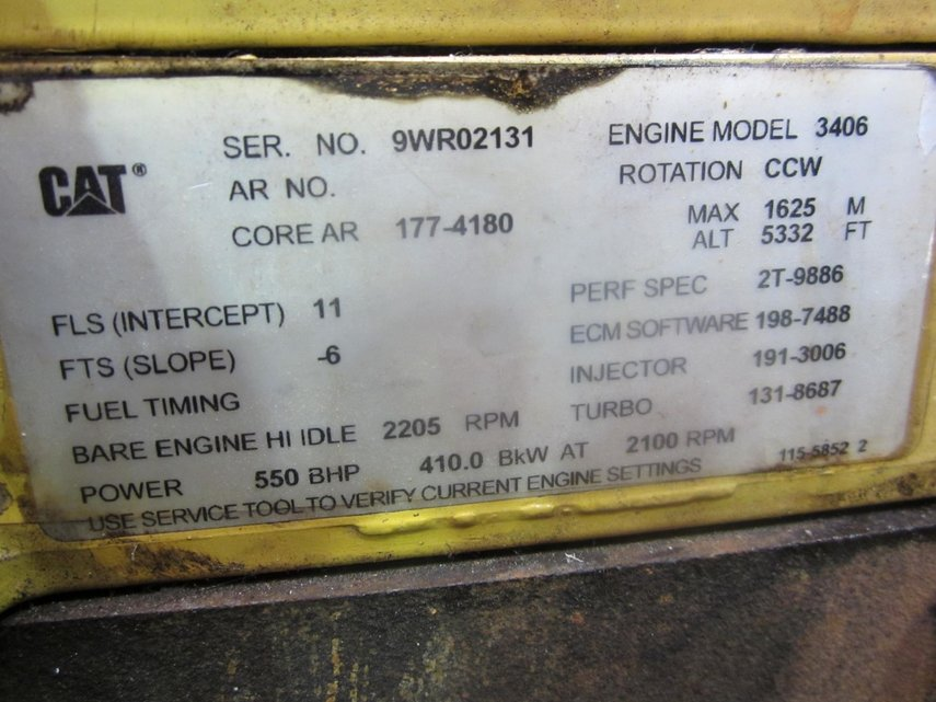 CATERPILLAR 3406E Diesel Engine - POOL TRADING