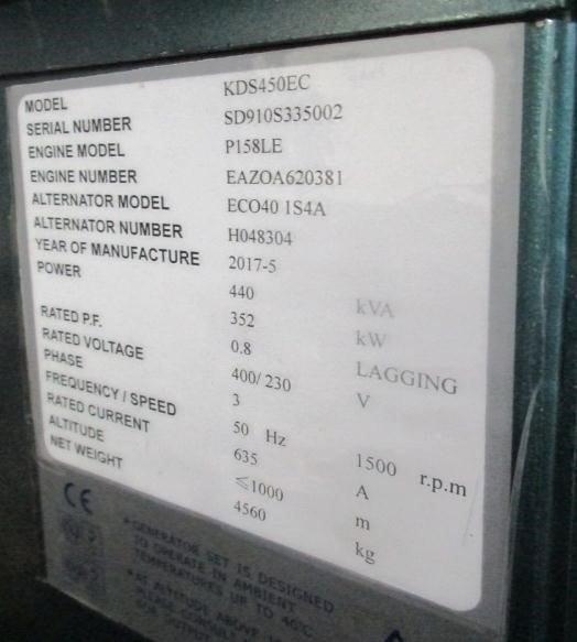 DOOSAN P158LE (NEW GENERATOR SET) Generator set - POOL TRADING